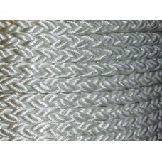 36mm White Polyester 8 Braid