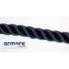16mm Black Polyester 3 Strand Rope