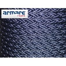 14mm Navy Polyester 8 Braid