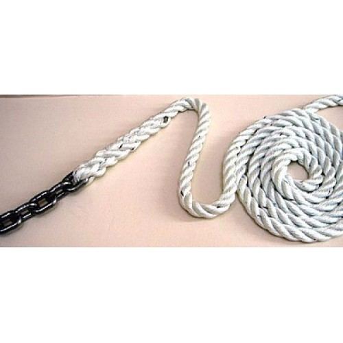 Rope Chain Rode - 6mm Maggi chain 15mts spliced to 12mm Pro-Set 3 Strand 70mts
