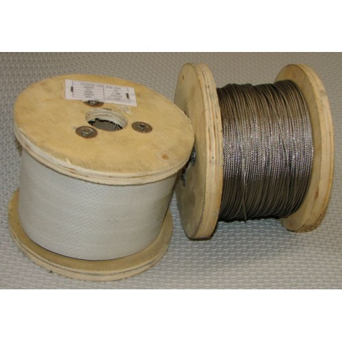 1.5mm 7x7 316 Stainless Steel Wire 100mt Reel