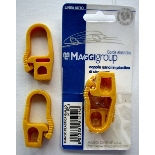 Yellow Bungy Hook - Carded per pair